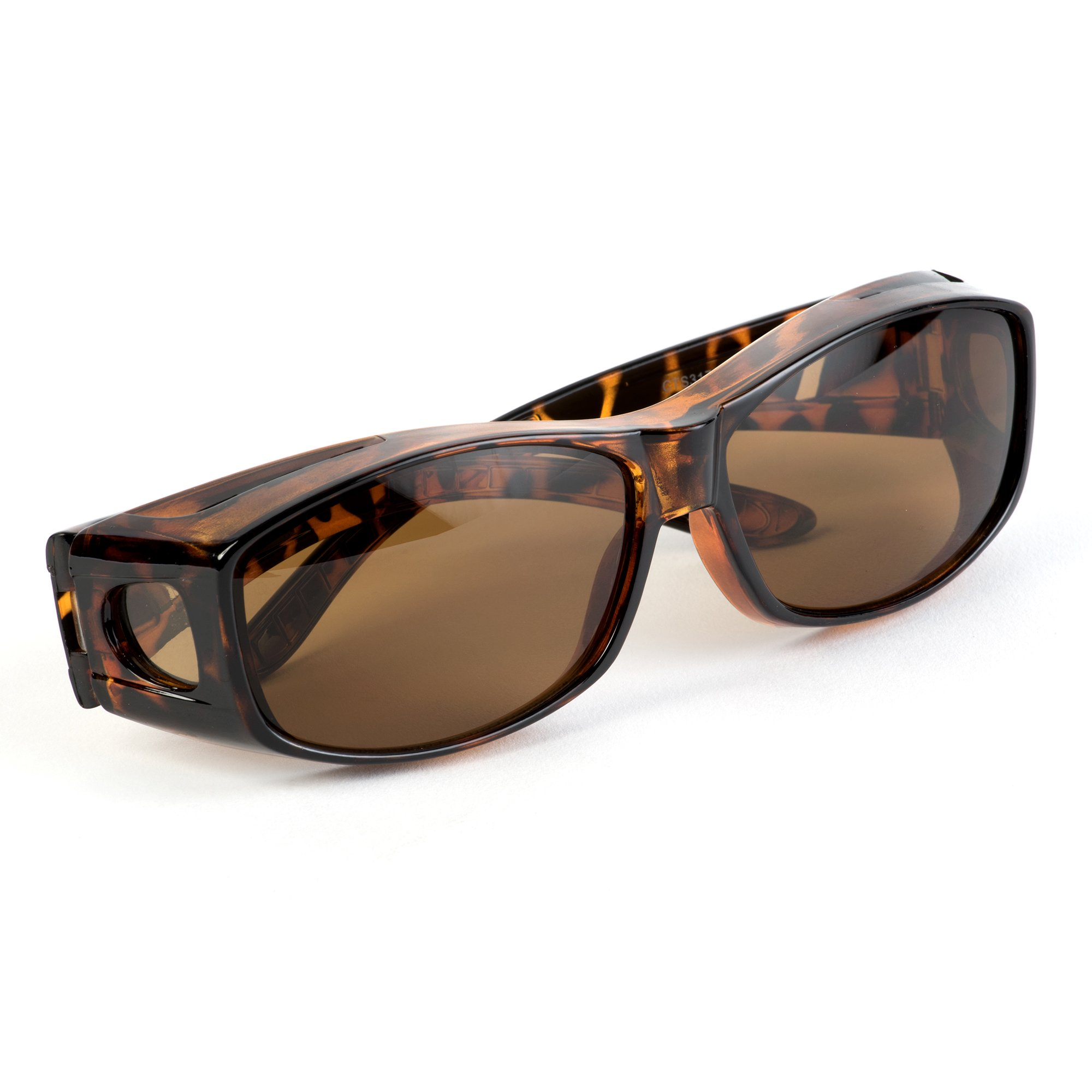 Over Glasses Sunglasses - Fitover Sunglasses with 100% UV Protection - By Pointed Designs (Leopard) by Pointed Designs (Image #3)