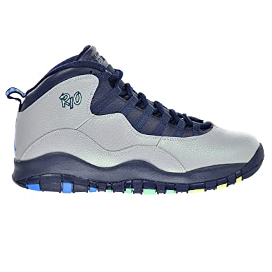 d89de787d21ed0 Jordan Air 10 Retro Rio Men s Shoes Wolf Grey Photo Blue Obsidian Green