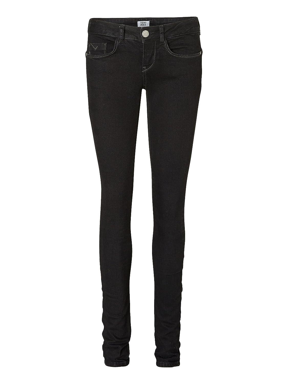 Vero Moda Women's Strong Lw Skinny Jeans Black Unw. - Noos Jeans:  Amazon.co.uk: Clothing