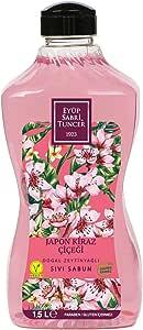 Eyüp Sabri Tuncer Doğal Zeytinyağlı Sıvı Sabun Japon Kiraz Çiçeği 1,5 L Pet Şişe 1 Paket