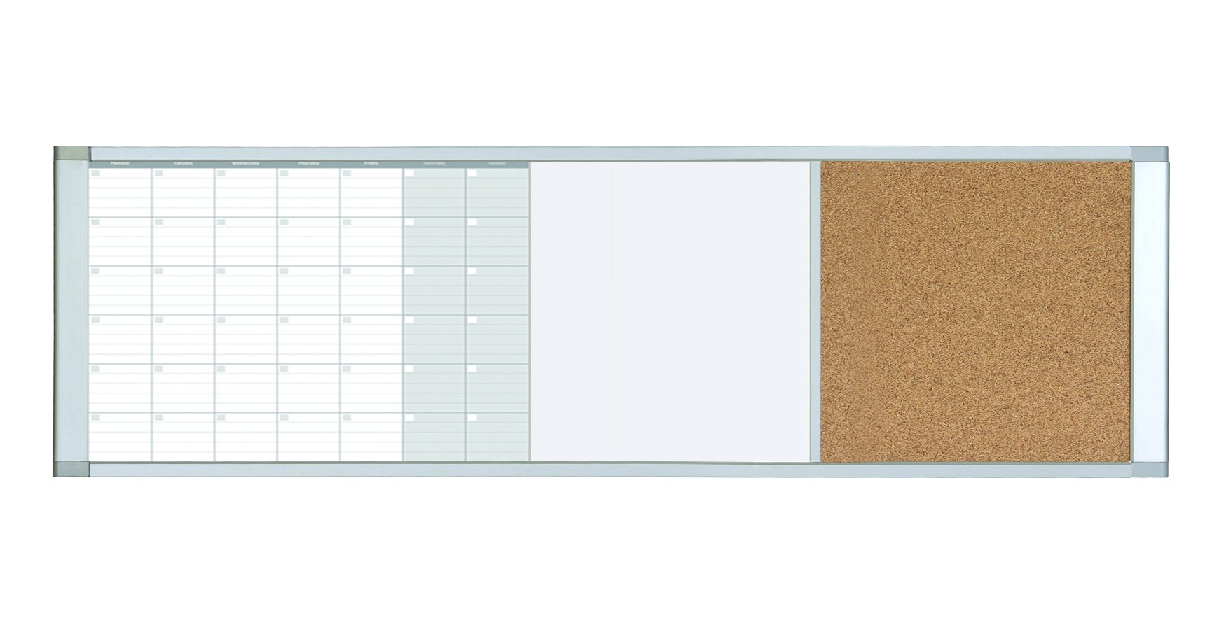 MasterVision Magnetic Gold Ultra Dry Erase/Cork Bulletin Cubicle Calendar Board, 48 x 18 Inches (XA429993700)