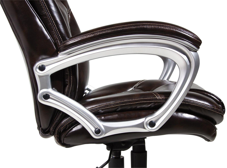 Amazon.com: Serta 43502 Faux Leather Big & Tall Executive Chair ...