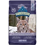 Blue Buffalo Wilderness High Protein Grain Free, Natural Adult Dry Cat Food, Chicken 5.4 Kg Bag - Large Bag, Kibble