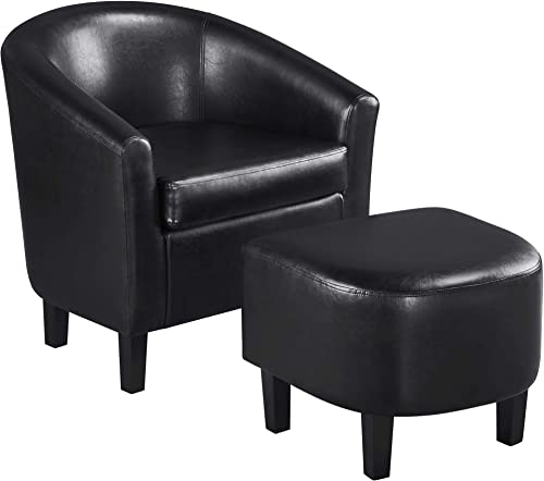 Topeakmart Contemporary Faux Leather Club Chair