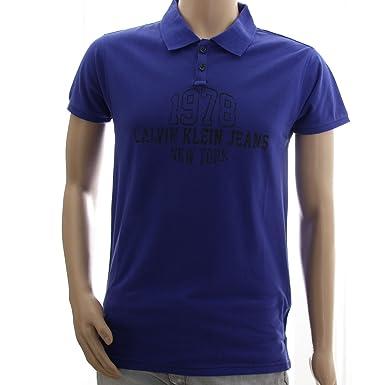 CALVIN KLEIN CMP80P-Polo para hombre, color azul, talla S, M, L ...