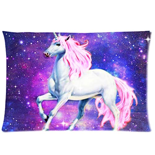 Nebula Galaxy Space Unicorn Pillowcase - Pillowcase with Zipper Pillow Protector Best Pillow Cover - Standard Size 20x30 inches One-sided Print