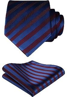 NEW Men/'s Pocket Square Navy Blue Tan Red Floral Checks Reversible Handkerchief