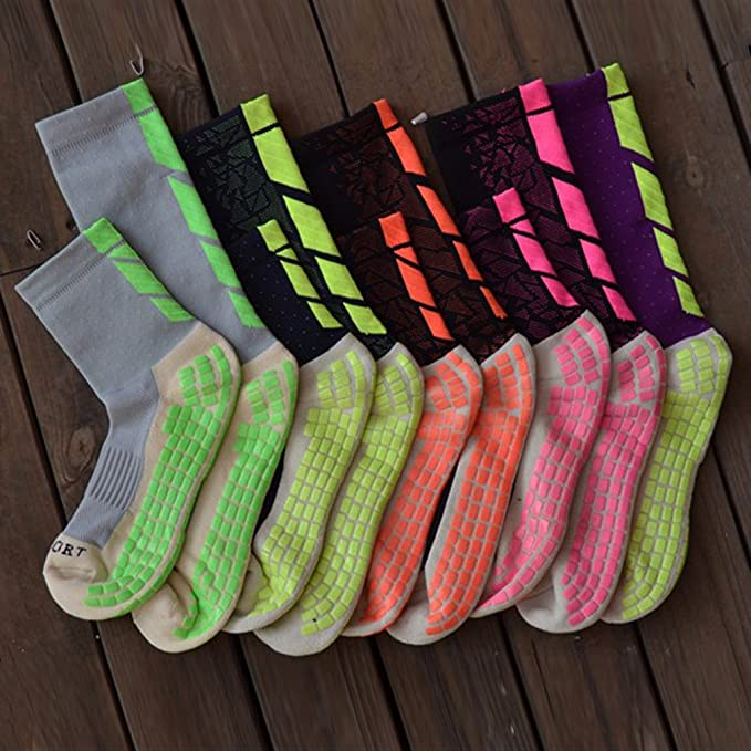 Amazon.com : Ynport Anti-Slip Football Socks TockSox Mid Calf Football Socks Soccer Short Stockings TruSox Futbol Meias Calcetines : Sports & Outdoors