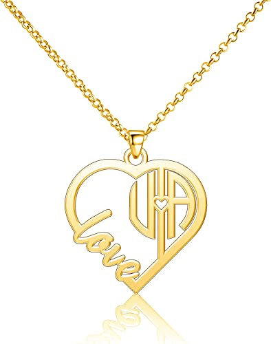 Infinite Memories Personalized Gifts Customized Heart Pendant Custom Name Necklace