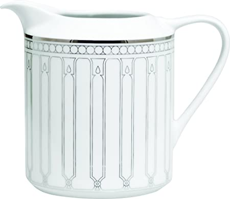Porcel Allegro Lechera, Porcelana, Blanco y Plata, 8 cm: Amazon.es ...