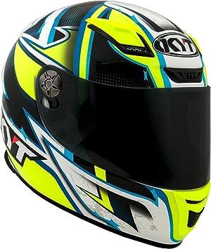 KYT casco Moto Integral KR-1, Lightning, talla XL 61 – 62 cm