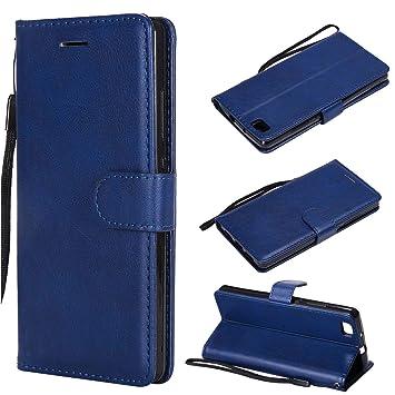 XCYYOO Funda para Huawei P8 Lite Silicona,Huawei P8 Lite Carcasa Libro de Cuero con Tapa de Holster PU y Silicona Elegante,Ranuras de Tarjetas Case ...