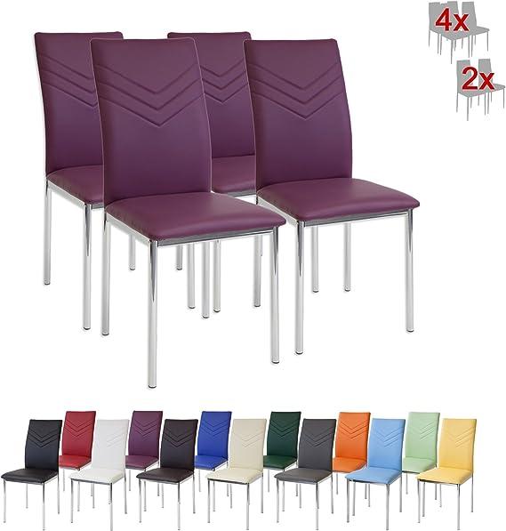 Albatros 2940 Verona Esszimmerstühle, 4 er Set, violett
