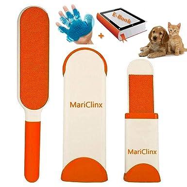 MariClinX - Cepillo mágico Reutilizable y económico para Mascotas, Limpieza Profunda y eficaz, Libro