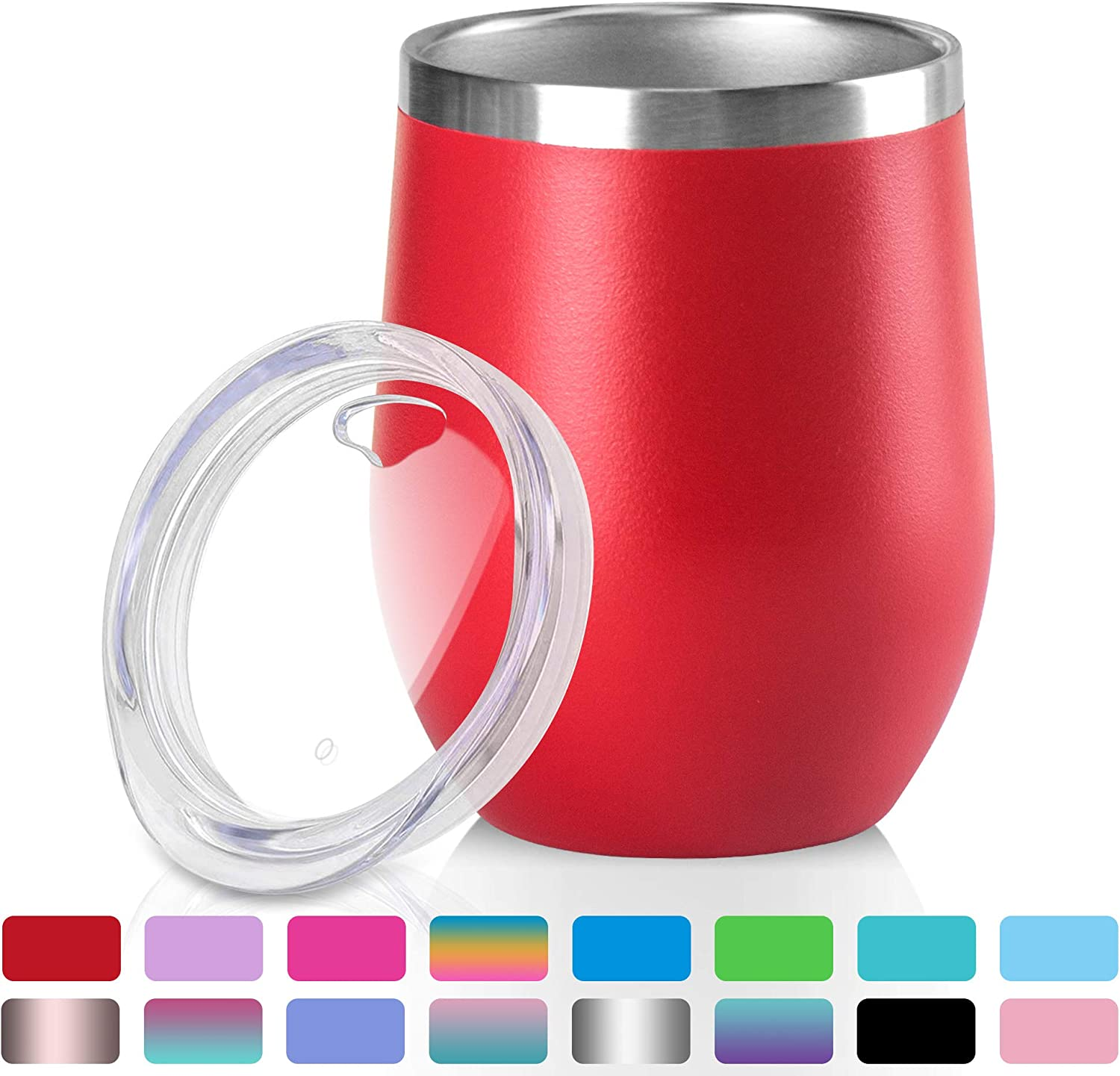 arteesol Coffee Cup - 12 oz Stainless Steel Travel Mug Coffee Mug - Double Wall Vacuum Insulated Tumbler with lid Fit for Coffee, Wine, Cocktails, Ice Cream