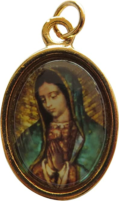 Virgin Mary Medal Our Lady of Guadalupe Catholic Religious Gold Tone Jewelry NEW FREE Shipping