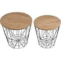 The Home Deco Factory hd3831 mesas filaires X2 Madera