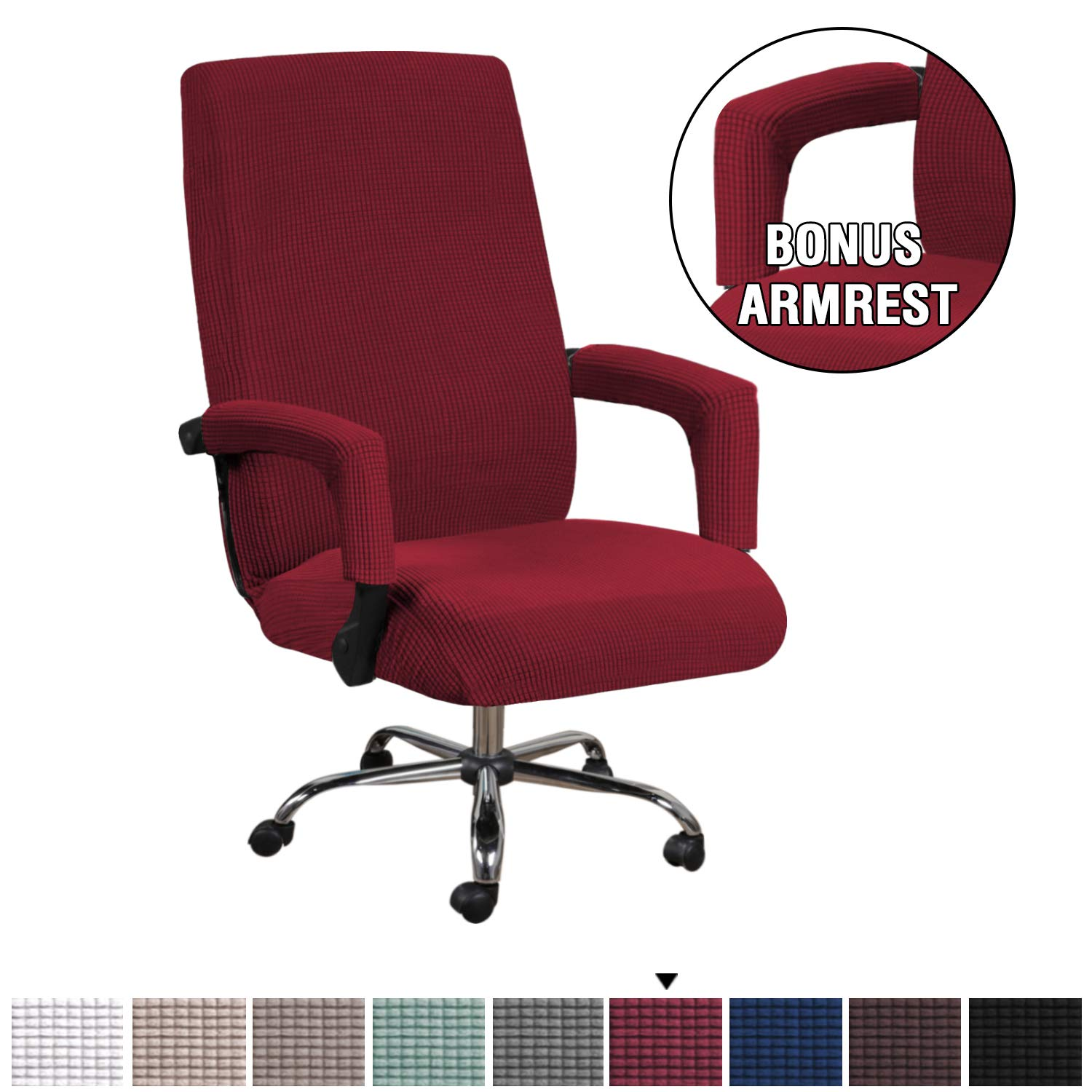 Strecth Polyester Chair Elbow Cover Protector for Office Computer Chair Arms