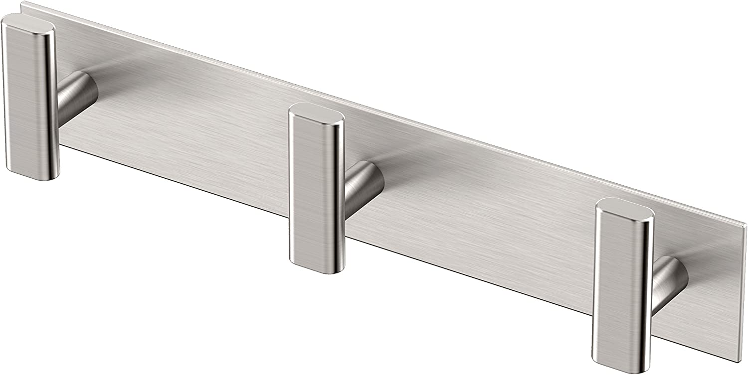 Gatco Elevate All Modern Décor Rectangle Triple Hook, Satin Nickel