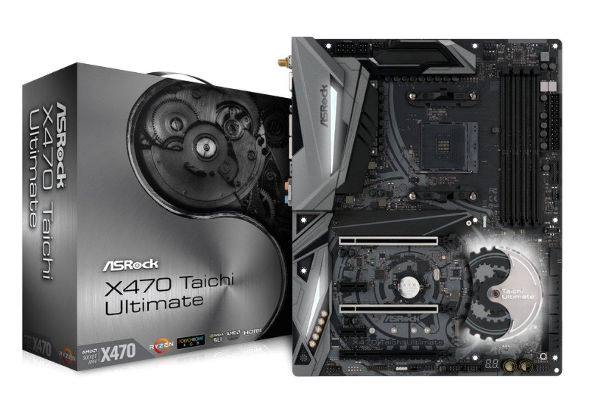 ASROCK AMD X470Chip Set ATX Motherboard X470Taichi Ulti...