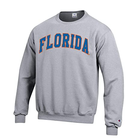 ce60a561 Image Unavailable. Image not available for. Color: Champion NCAA Men's ECO  Power Blend Crew Sweatshirt with Tackle Twill Embroidered Lettering-Florida  ...