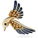 Cute Animal Jewelry Rhinestone Dragonfly Brooches and Pins Fashion Womwen Jewelry