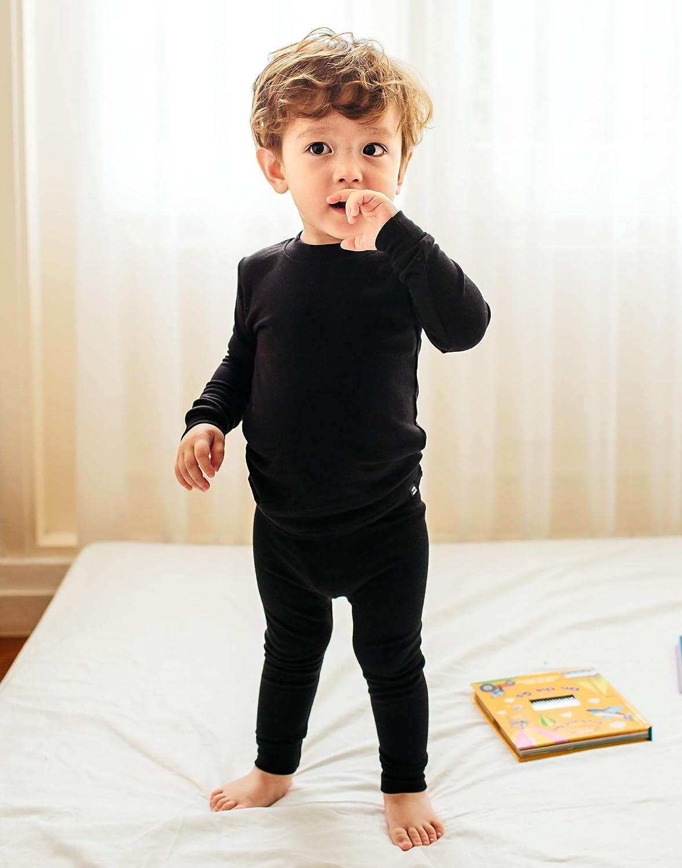 VAENAIT BABY 12M-12 Toddler Kids Unisex Girls /& Boys Soft Comfy Modal Tencel Solid Raglan Sleepwear Pajamas Pjs 2pcs Set