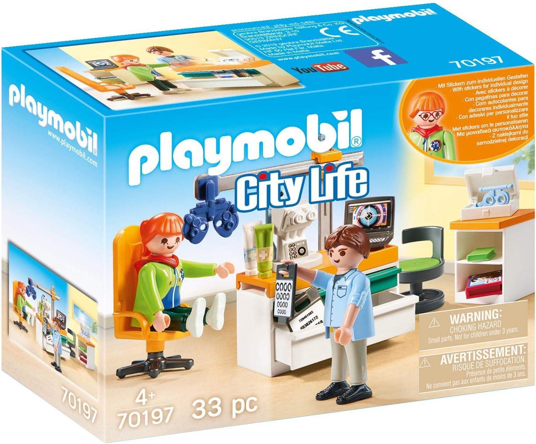 PLAYMOBIL-70197 Playmobil City Life Oftalmólogo, multicolor, talla única (70197) , color/modelo surtido
