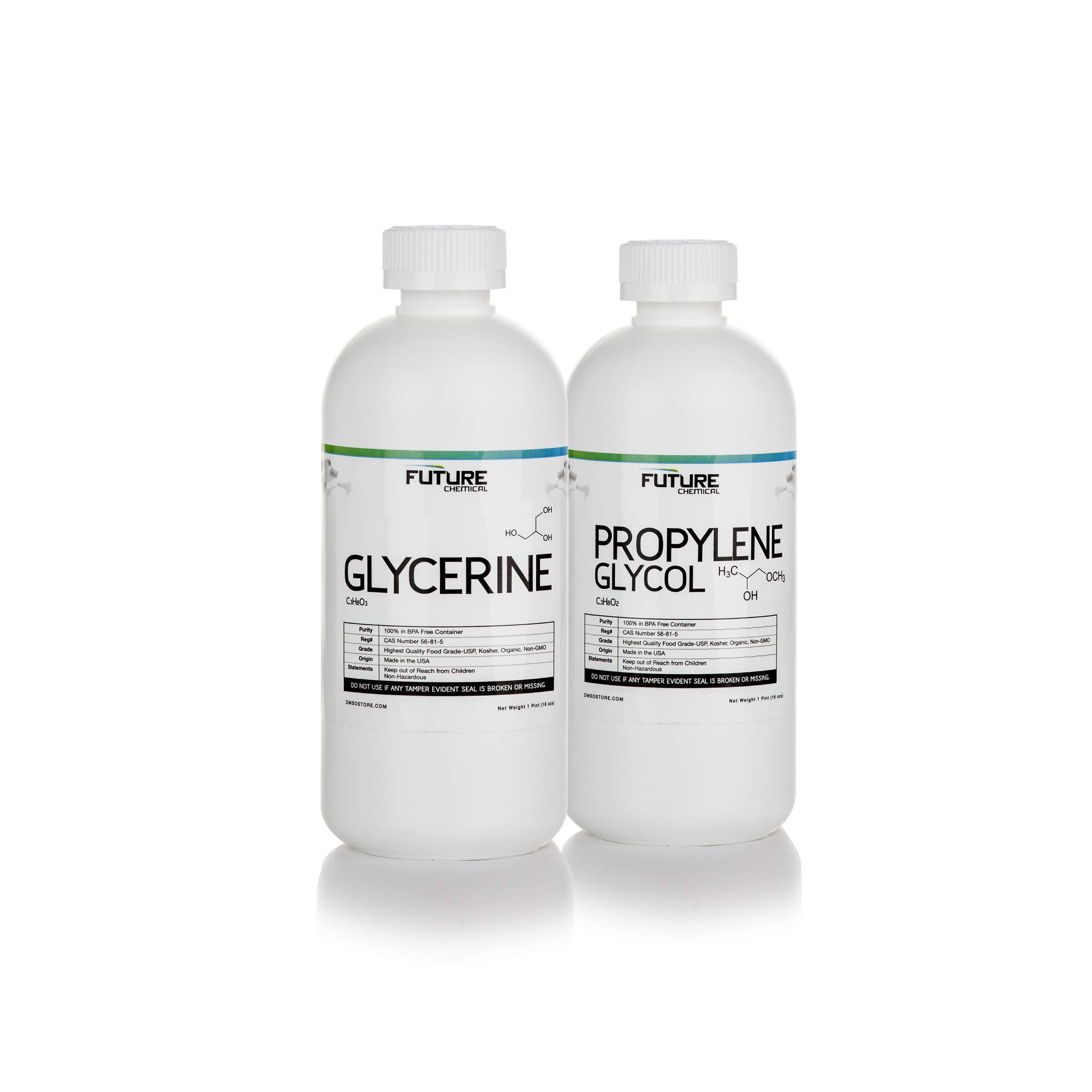 2 Pint Kit - Vegetable Glycerin & Propylene Glycol High Purity Food Grade (16 oz Each)