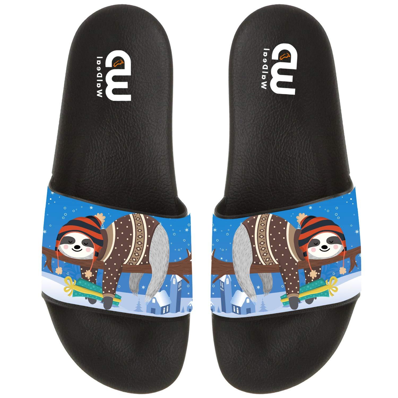 Cartoon Cute Sloth On tree Summer Slide Slippers For Men Women Kid Indoor Open-Toe Sandal Shoes