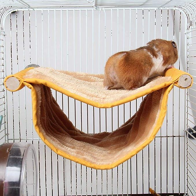 Fornateu Hamaca Doble Capa Jaula Cama del Animal doméstico Que ...