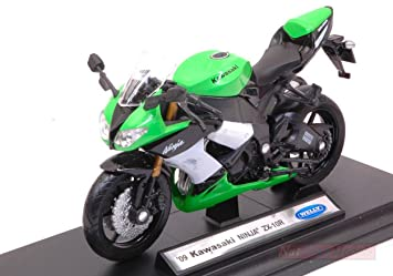 Welly WE38511G Kawasaki Ninja ZX-10R 1:18 MODELLINO Die Cast ...