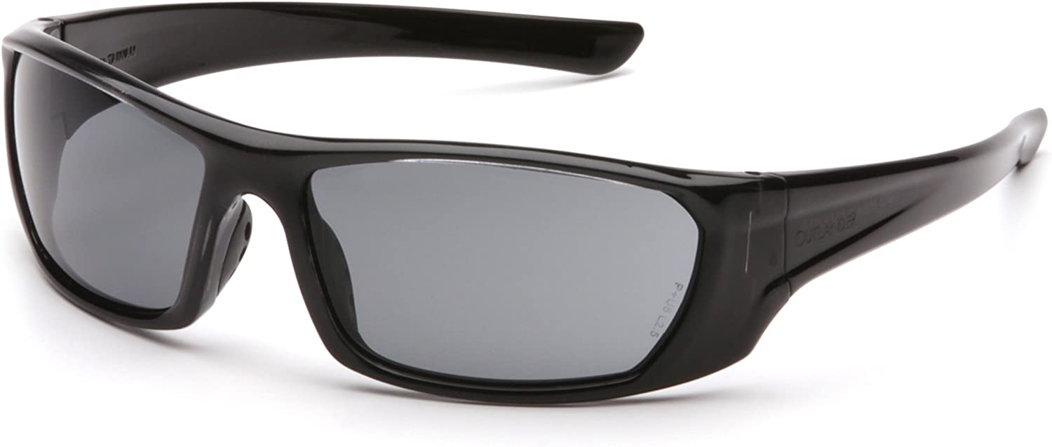 PYRAMEX SB8020D Outlander Safety Glasses Black Frame And Gray Scratch-Resistant