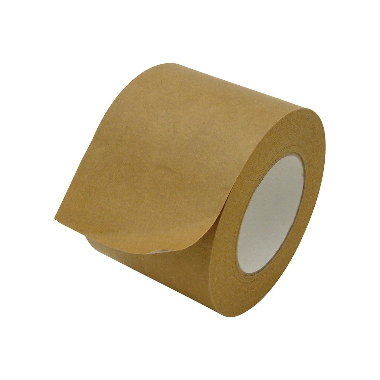 J.V. Converting FPPT-01/BRN0560 JVCC FPPT-01 Kraft Flatback Paper Packaging Tape: 1/2 x 60 yd, Brown