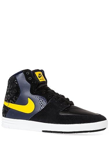 Nike Paul Rodriguez 7 High Men's Skateboarding Shoes, Size 10 Black/Varsity  Maize/