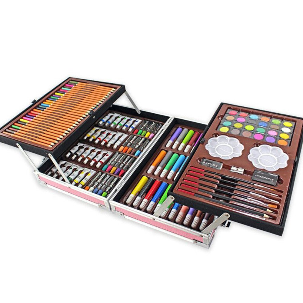 JIANGXIUQIN Artist Art Drawing Set, The Art Collection Creates Watercolor, Color Drawing Tools, and 168 Sets of Luxury Boxes Cover Up, Will Not Hurt Clothing and Skin Gifts for Children and Children. by JIANGXIUQIN (Image #3)