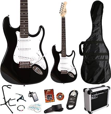 Lindo * Deluxe Pack * BLACK ZST Series Guitarra eléctrica y SA-15 ...