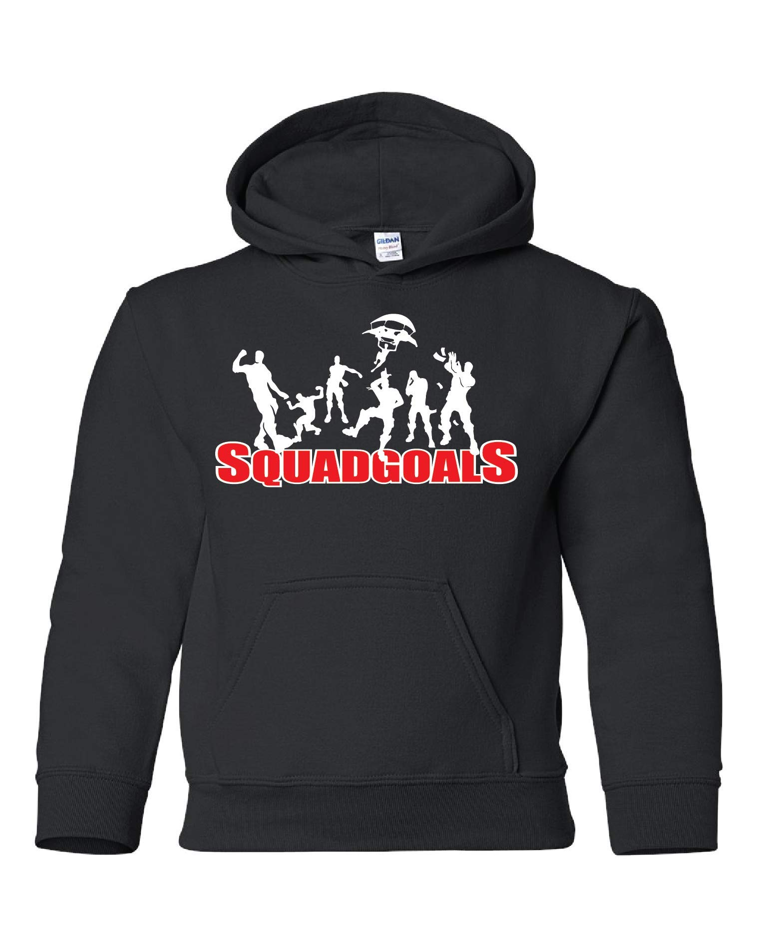 Fortnite Shirt (Youth) - Squad Goals - Add On Bundle Available (Medium, Black (Hoodie))