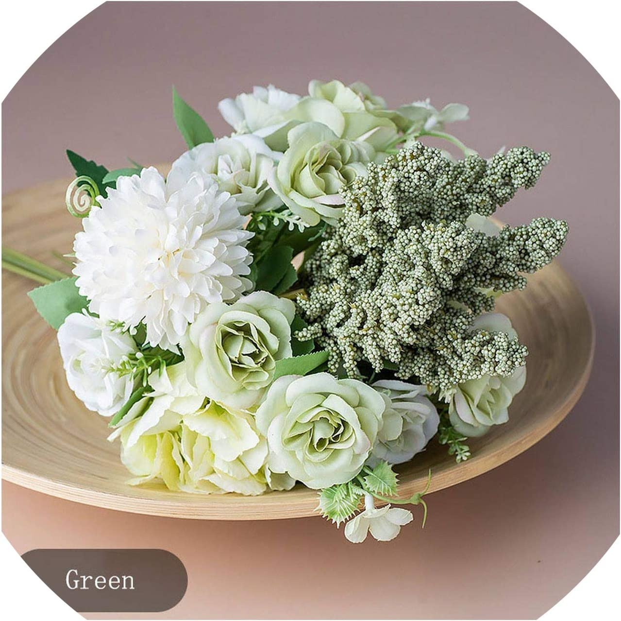DIY Crafts Silk Hydrangea Artificial Flower Fake Bouquet Desktop Decor