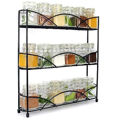Maison & White 3 stufiges Kräuter & Gewürzregal Organizer | Frei stehendes  rutschfestes modernes Design | Universelles Design | Küche & Pantry ...