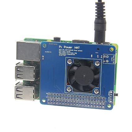 LaDicha Programable De Control De Temperatura Inteligente Del Ventilador Y La Potencia De La Junta De Expansión Para Raspberry Pi: Amazon.es: Hogar