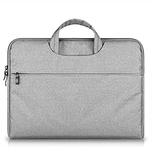RAINYEAR Laptop Sleeve 13 Inch Water Resistant Computer Case Polyester Briefcase Padded Carrying Bag for 13-13.3 MacBook Pro/Notebook/Ultrabook/Chromebook of HP/Dell/ThinkPad/Lenovo/Acer/Asus(Light Grey)