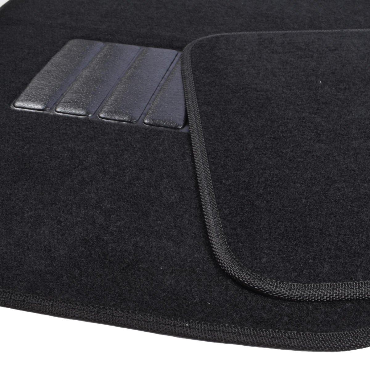 Amazon com bdk classic carpet floor mats for car auto universal fit front rear with heelpad black automotive