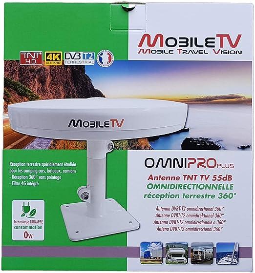 Antena TV Omni Lite TNT HD 4 K UHD, 45 Db, con Amplificador Intelligent 12/24 V Autocaravana Camión: Amazon.es: Electrónica