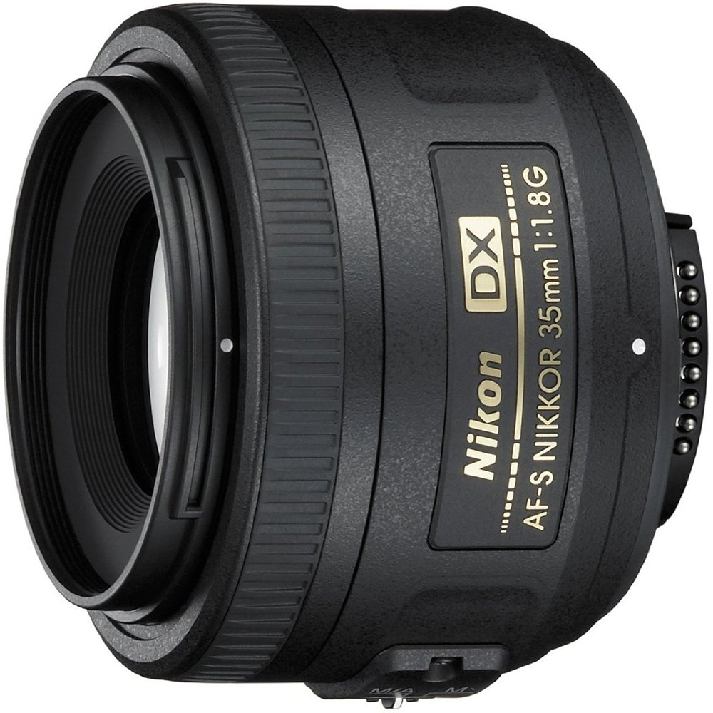 Nikon AF-S DX NIKKOR 35mm f/1.8G Lens with Auto Focus for Nikon DSLR Cameras by Nikon