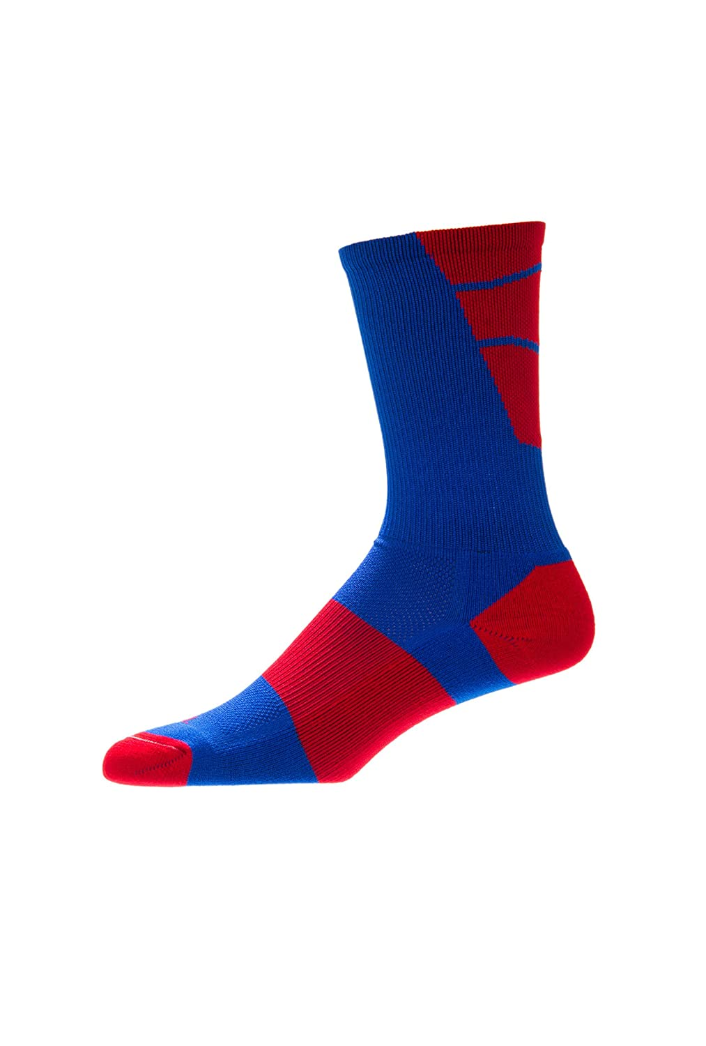 CSI Point Guard Performance Crew Socks Made In The USA Royal/Red 6MAN6015
