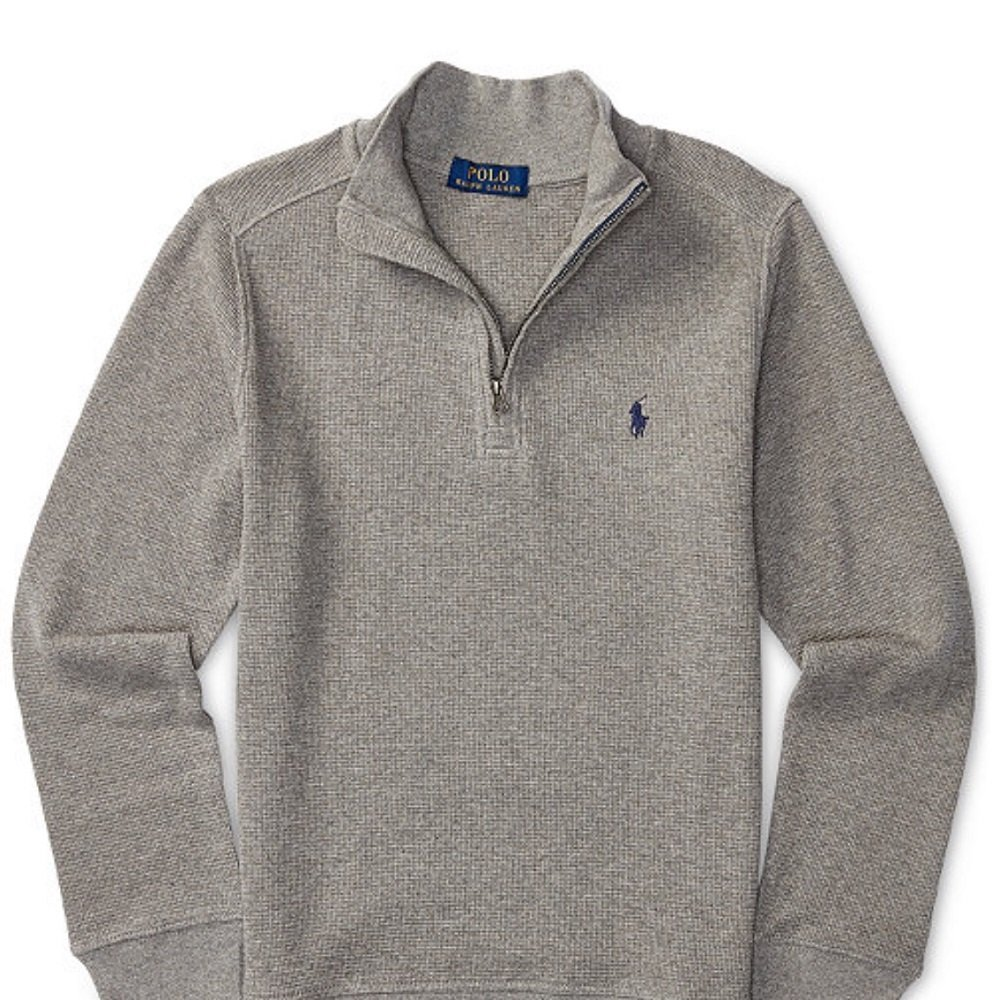 Polo Ralph Lauren Boys Boy's Waffle Knit Pullover Sweater Gray S