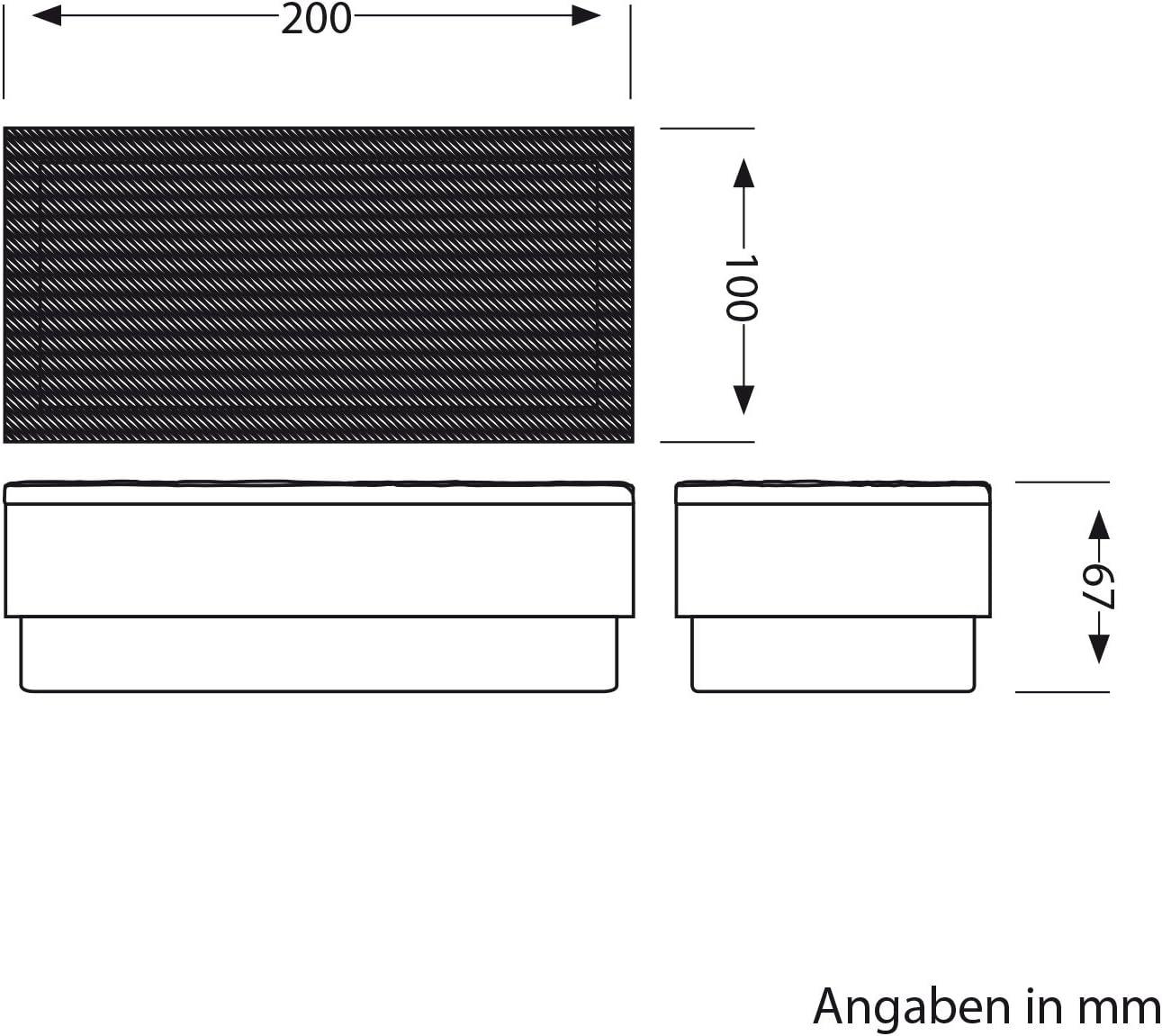 ledscom.de LED Pflaster-Stein Gorgon Boden-Einbauleuchte für außen, 20x10cm, 12V, warm-weiß 5er Set 8er-Set