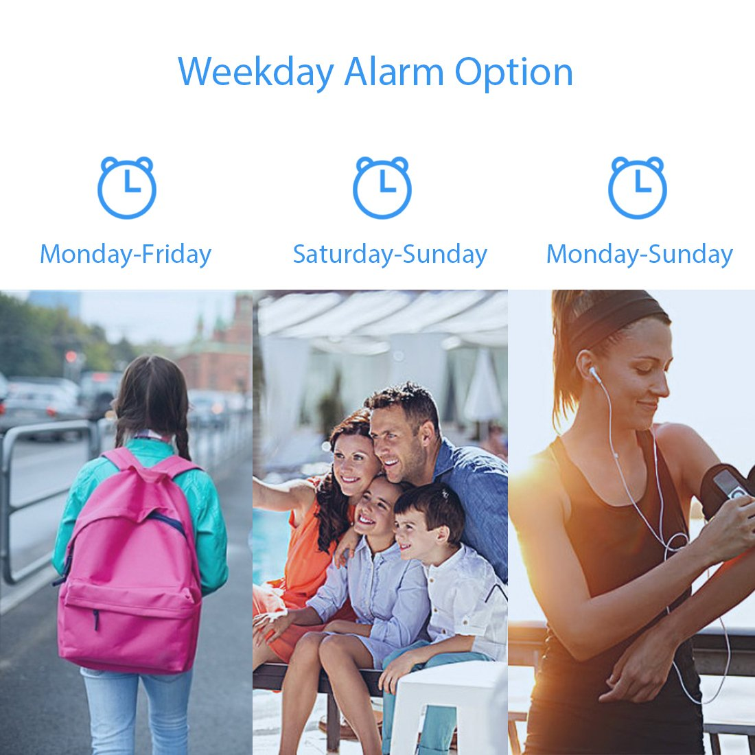 Optional Weekday Alarm Snooze Battery Operated Kerchan Technology Group Limited Clock-Bell REACHER Twin Bell Alarm Clock with Dual Alarm Backlight