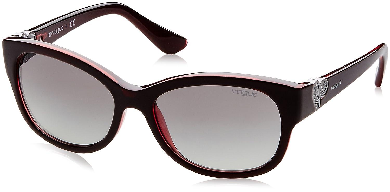 Vogue 0Vo5034Sb Gafas de sol, Top Dark Opal Red, 56 para ...